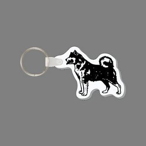 Key Ring & Akita Dog Punch Tag W/ Tab