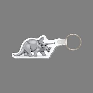 Key Ring & Triceratops Dinosaur Punch Tag W/ Tab