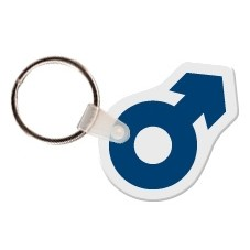 The Symbol For Male Shaped Key Tag W/ Key Ring