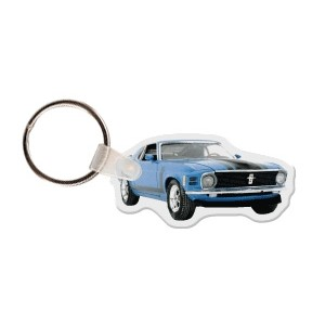 Mustang Car Key Tag W/ Key Ring