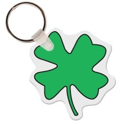 4 Leaf Clover - Key Tag W/ Key Ring