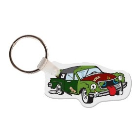 Wrecked Car (Animated) Key Tag W/ Key Ring