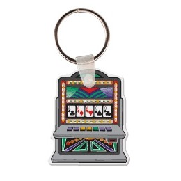 Slot Machine Key Tag W/ Key Ring