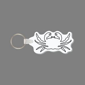 Punch Tag W/ Tab & Key Ring - Crab Outline Punch Tag