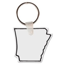 Arkansas Shaped Key Tag W/ Key Ring