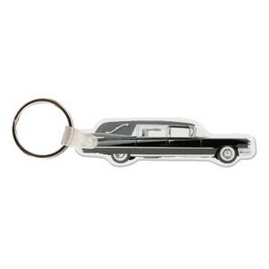 Hearse Funeral Car Key Tag W/ Key Ring