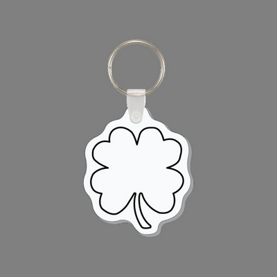 Key Ring & 4 Leaf Clover Punch Tag W/ Tab